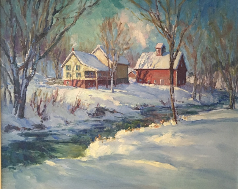 Winter Light - Hunter Gallery of Fine Art, Grafton, VT
