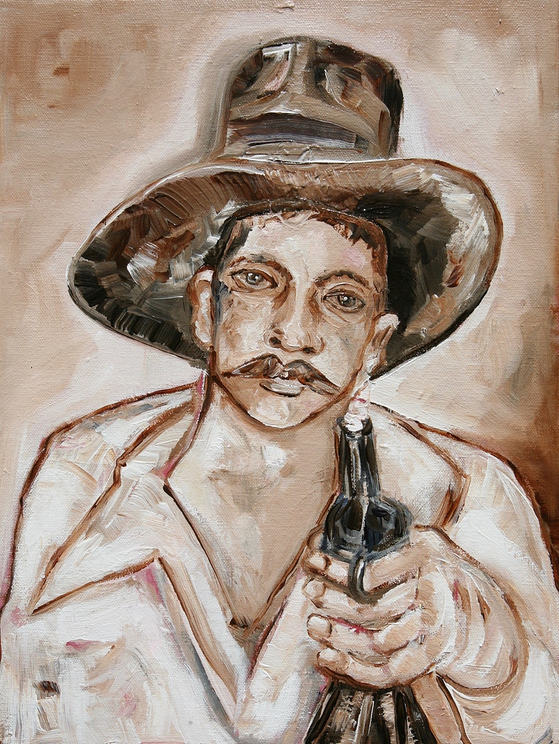 """Bandit with Bottle Gun"" - Isabella Innis"