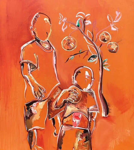 George with Orange (Tree of Life) - Isabella Innis