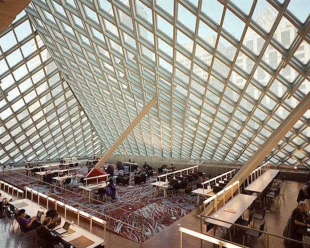 Seattle Public Library, Central Branch Reading Room - James Elliot Bailey - LA Photographer