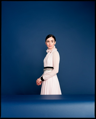 Lily Collins - James Elliot Bailey - LA Photographer