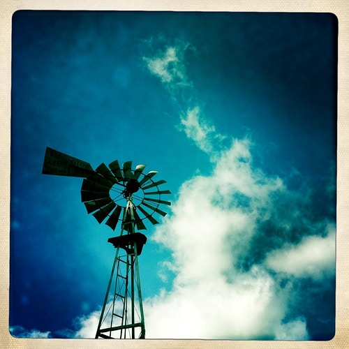 Wind driven water pump - Jeanine Brandi Photography