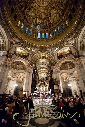 Worcester College Choir perform at St Paul's Cathedral - John Cairns Photography