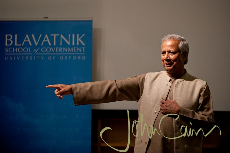 Nobel Laureate, Mohammad Younus - John Cairns Photography