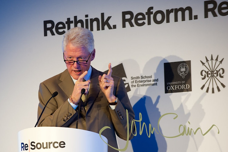 Bill Clinton. Photographed at the ReSource conference in Oxford Exam Schools - John Cairns Photography