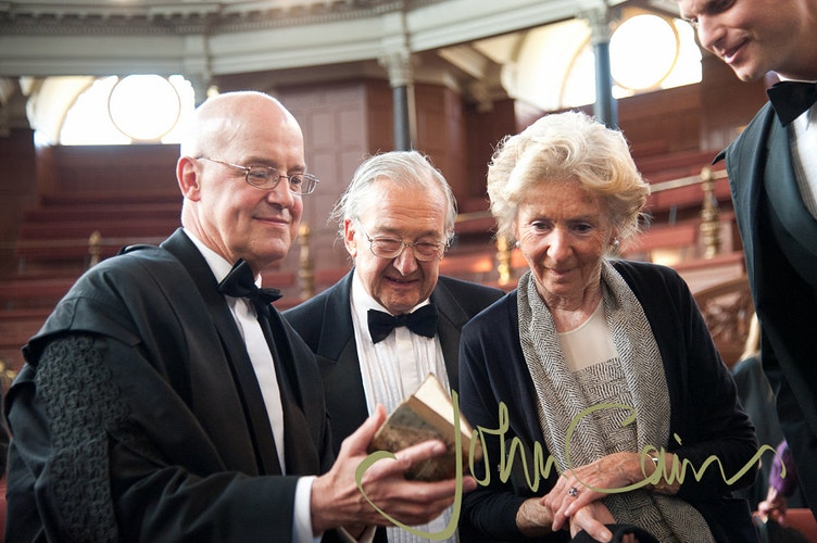 The former Vice Chancellor of Oxford University with guests - John Cairns Photography