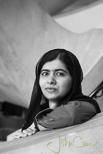 Malala Yousafzai - photographed in central Oxford - John Cairns Photography