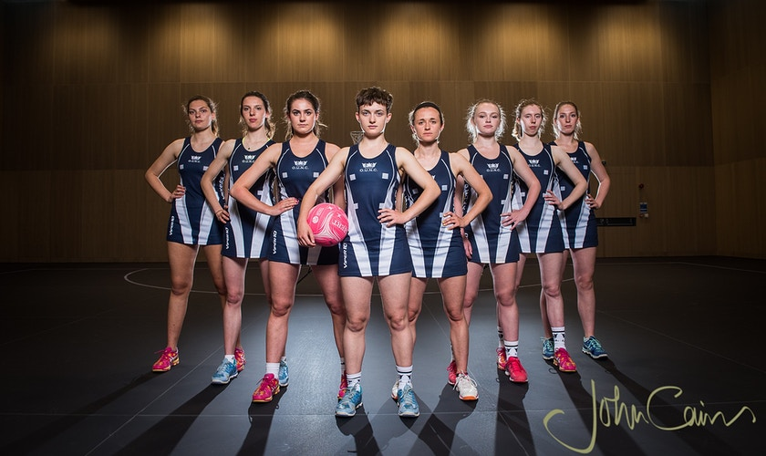 Oxford University Netball Team - John Cairns Photography