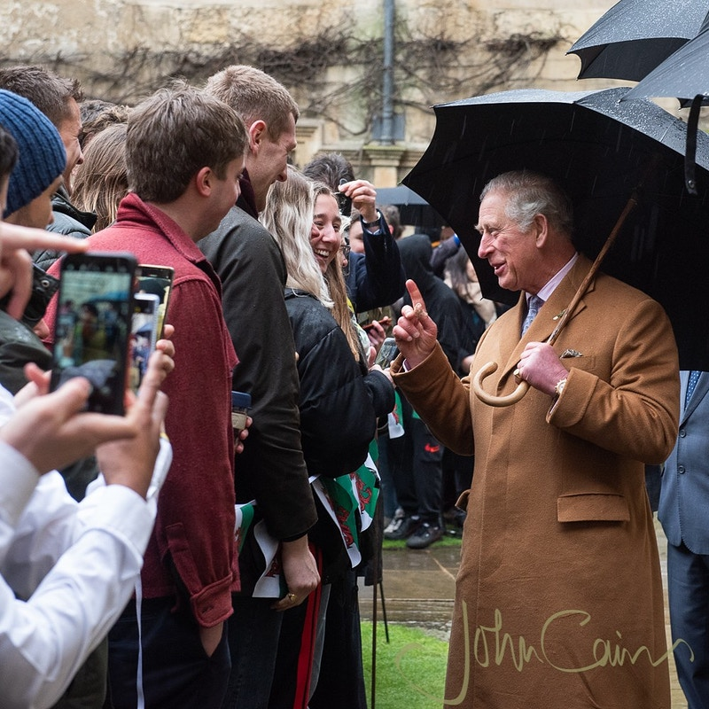 HRH Prince of Wales visiting Jesus College, Oxford - John Cairns Photography