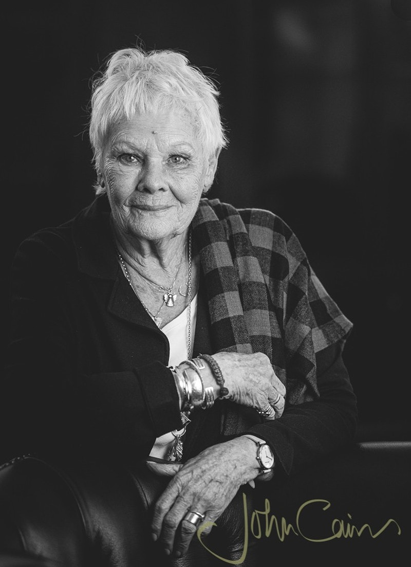 Dame Judi Dench - photographed in London - John Cairns Photography