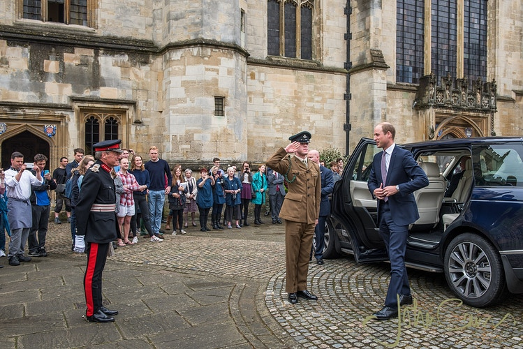 The Duke of Cambridge arriving at Magdalen College, Oxford - John Cairns Photography