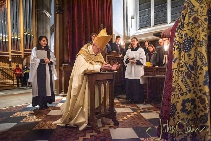 Archbishop Justin Welby leading a service at Merton College, Oxford - John Cairns Photography