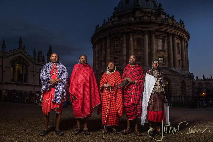 Maasai leaders in Radcliffe Square - John Cairns Photography