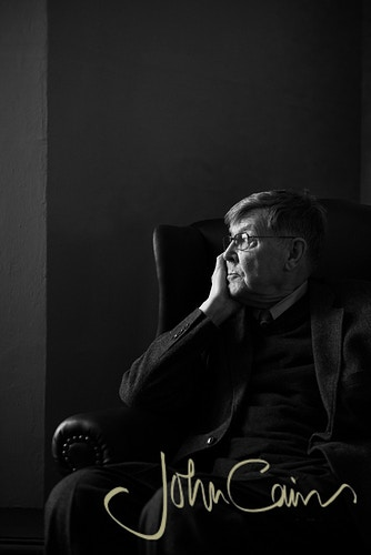 Alan Bennett - this was one of several portraits taken on the day Alan was awarded the Bodley Medal. - John Cairns Photography