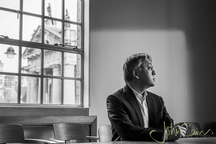Kazuo Ishiguro photographed in the Bodleian Library - John Cairns Photography