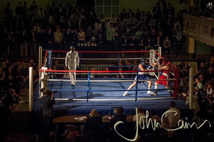 Varsity Boxing at Oxford Town Hall - John Cairns Photography