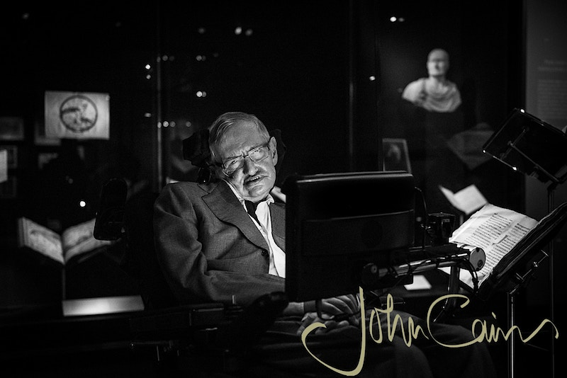 Professor Stephen Hawking - John Cairns Photography