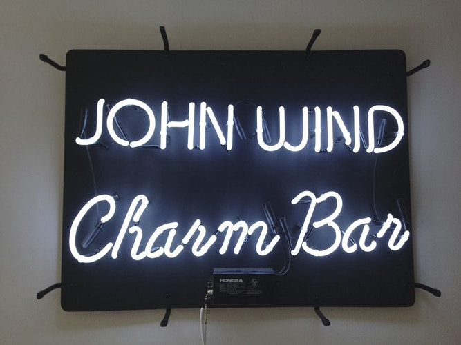 Charm Bar Sign - John Y. Wind | Artist