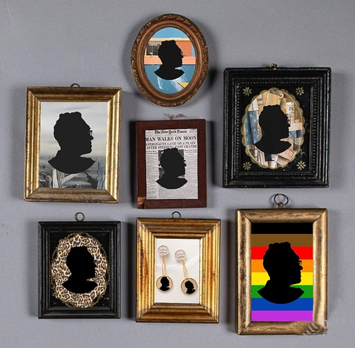 Lot of 7 Framed Silhouette Miniatures, Pook & Pook Auctions - John Y. Wind | Artist