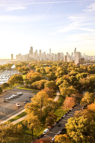 Lincoln Park - Chicago at Sunrise - Justin Britton Photography
