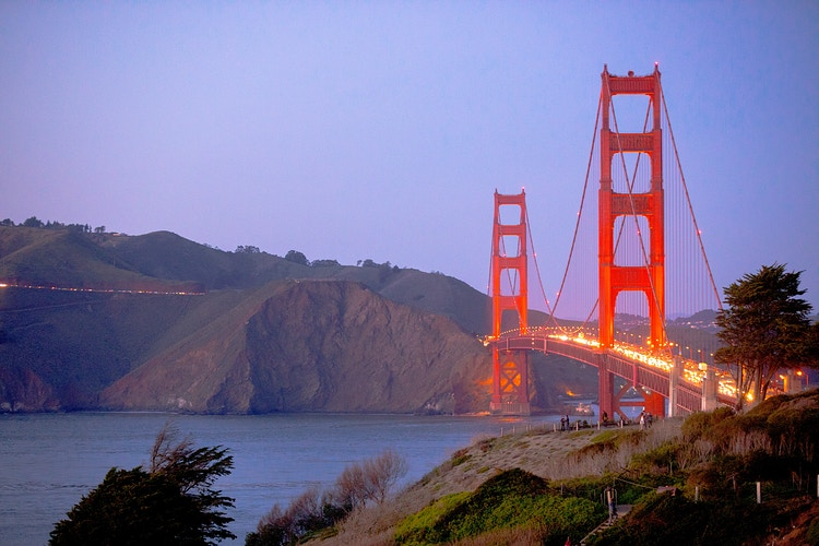 Sunset Golden Gate Bridge - Presidio - Justin Britton Photography