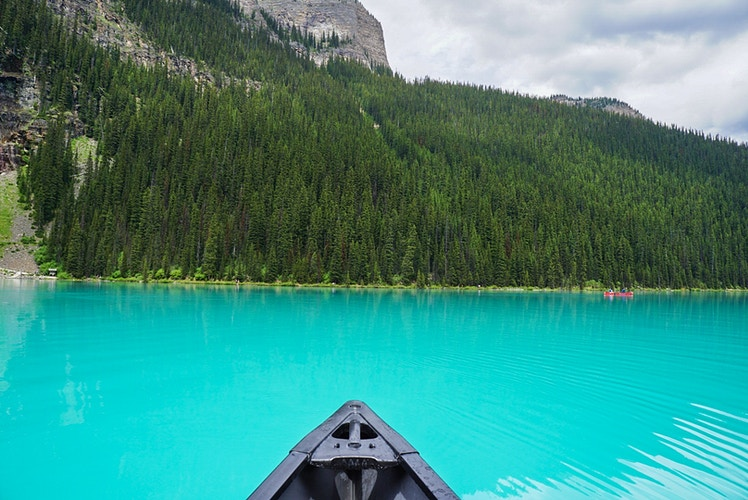 Lake Louise Canoe - Banff National Park Canada - Justin Britton Photography