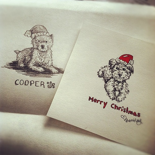 custom christmas cards - Kara Hoblin