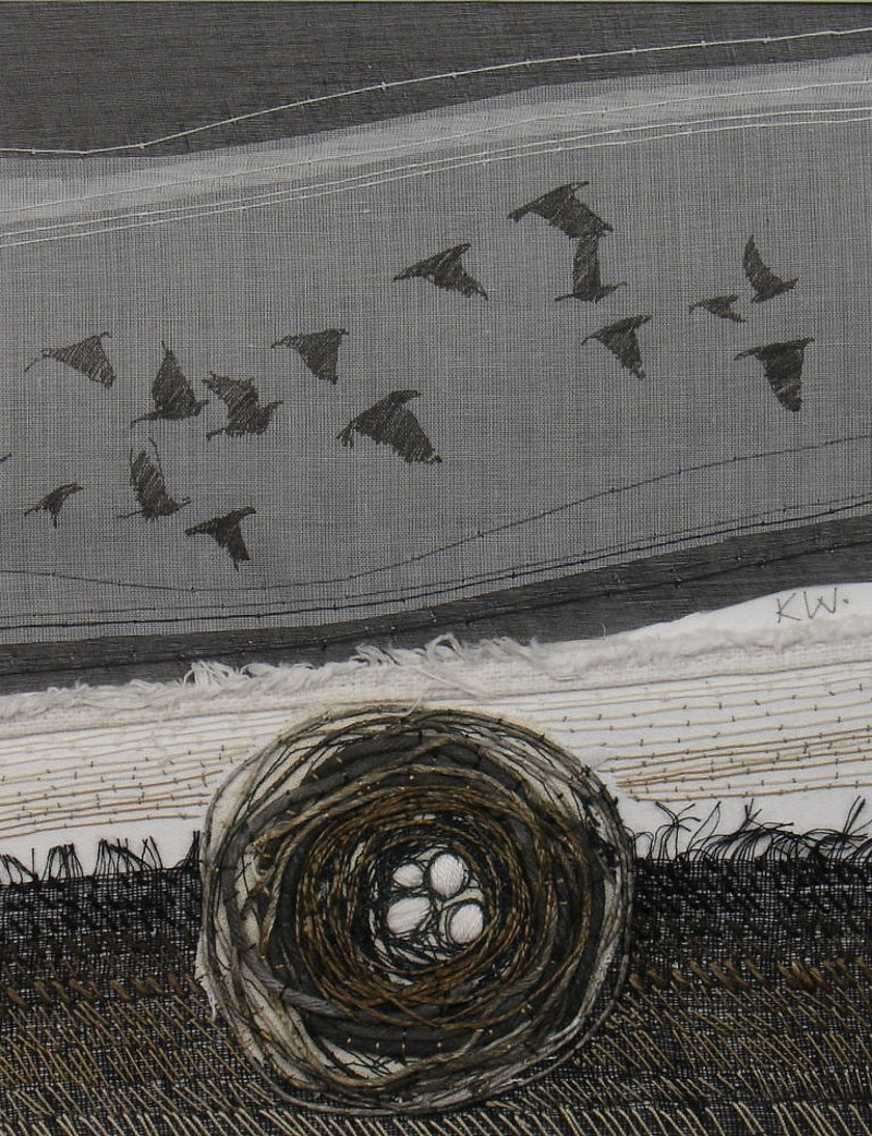 nest in the field - KATE WELLS artist