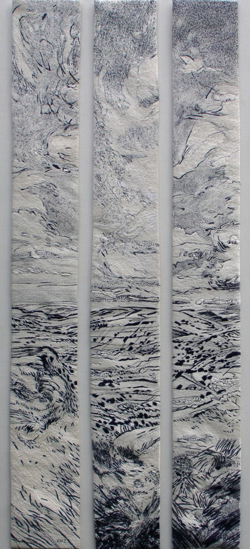 White Peak Triptych (2008) - KATE WELLS artist