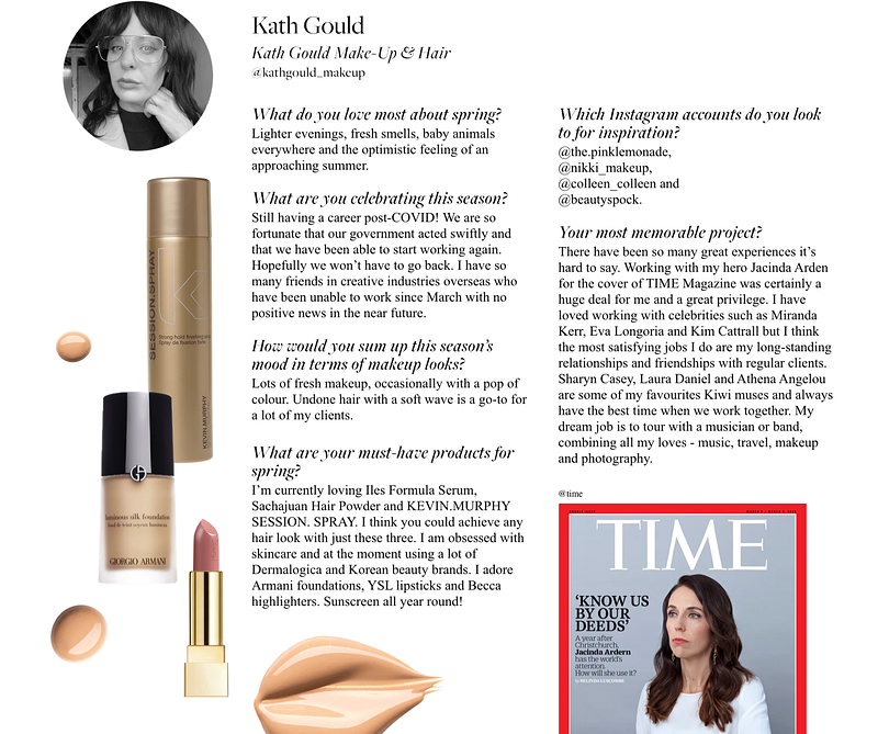 Press - Kath Gould Make-Up & Hair - Auckland, NZ