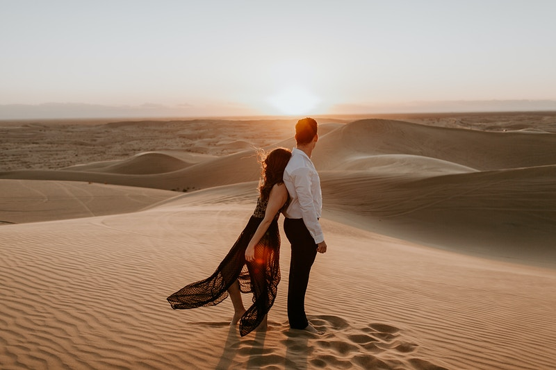 Glamis Sand Dune Engagement - Katie Ruther