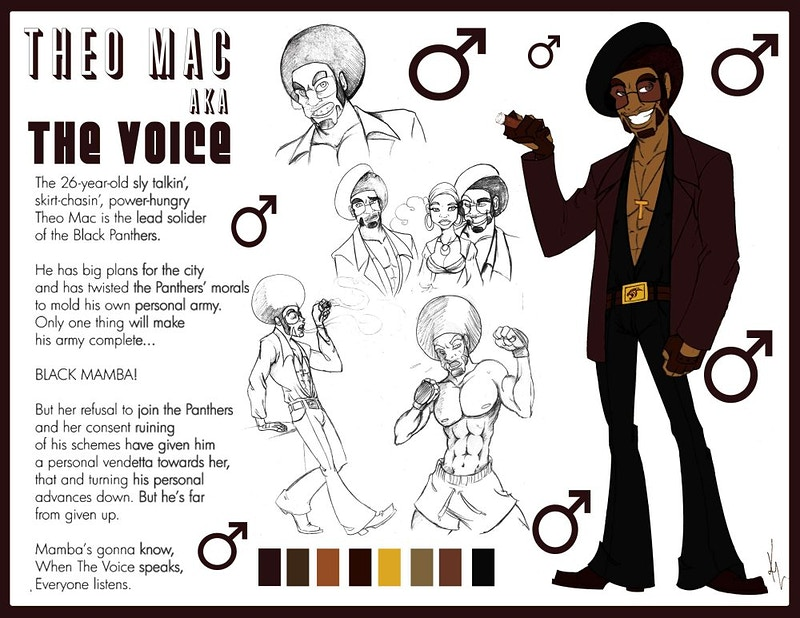 Character Sheet - The Voice - Kitamu Latham Sampier