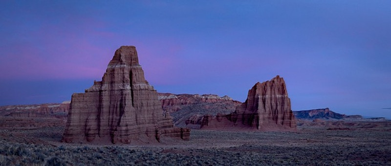 Temple of the Moon, Temple of the Sun, Capitol Reef NP, UT - Kirk Marshall Photography