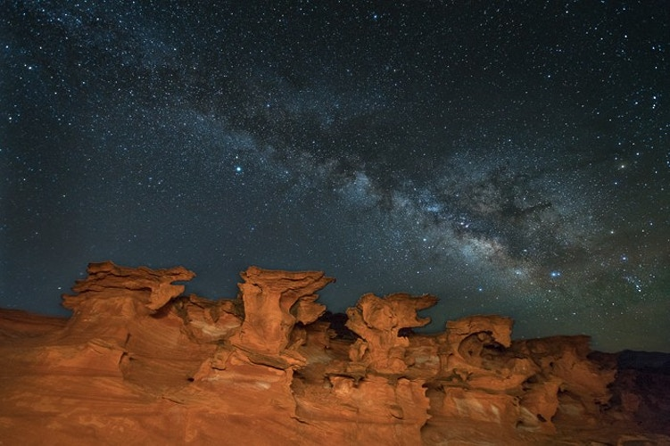 Milky Way over Little Finland, Gold Butte NM, NV - Kirk Marshall Photography