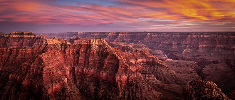 Grand Sunset, Sublime Point; Grand Canyon NP, AZ - Kirk Marshall Photography