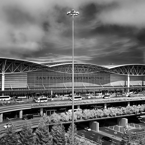 SFO International Streetlight, San Francisco, CA - Kirk Marshall Photography