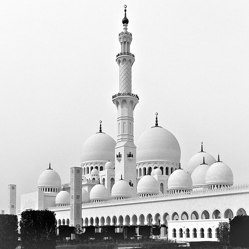 Sheikh Zayed Grand Mosque, Minaret; Abu Dhabi, UAE - Kirk Marshall Photography