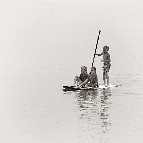 Three Sibs on a SUP, Abu Dhabi, UAE - Kirk Marshall Photography