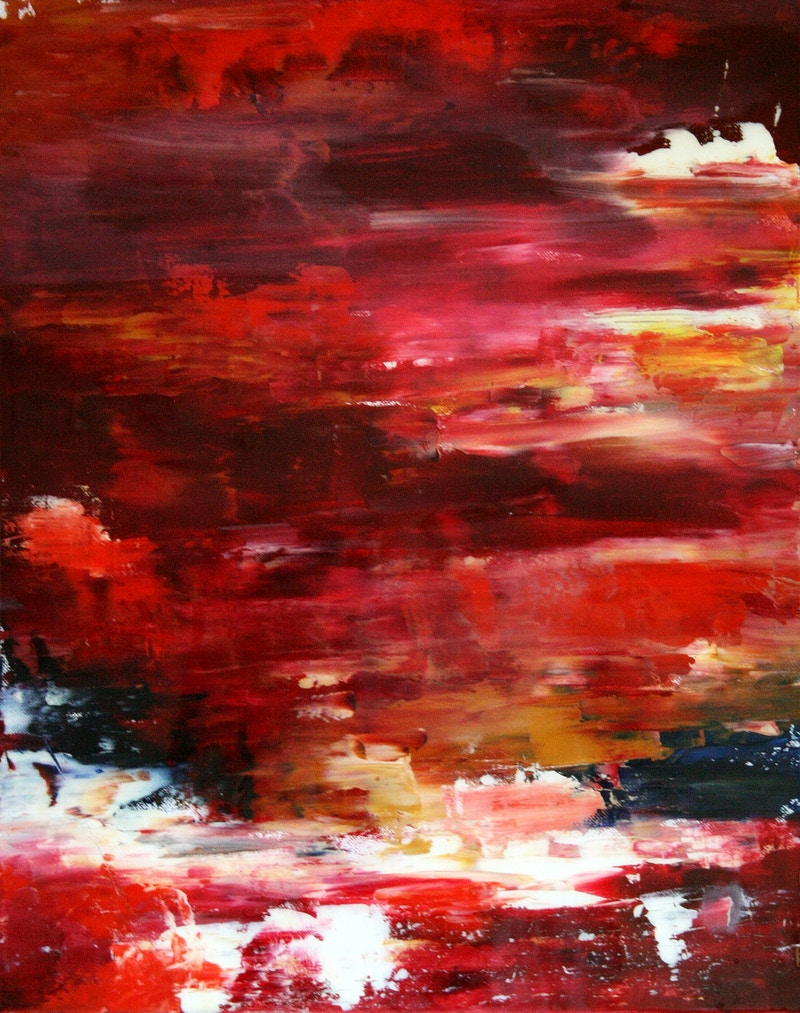 Inchoative - 004 (RED) - Leah Downing Art