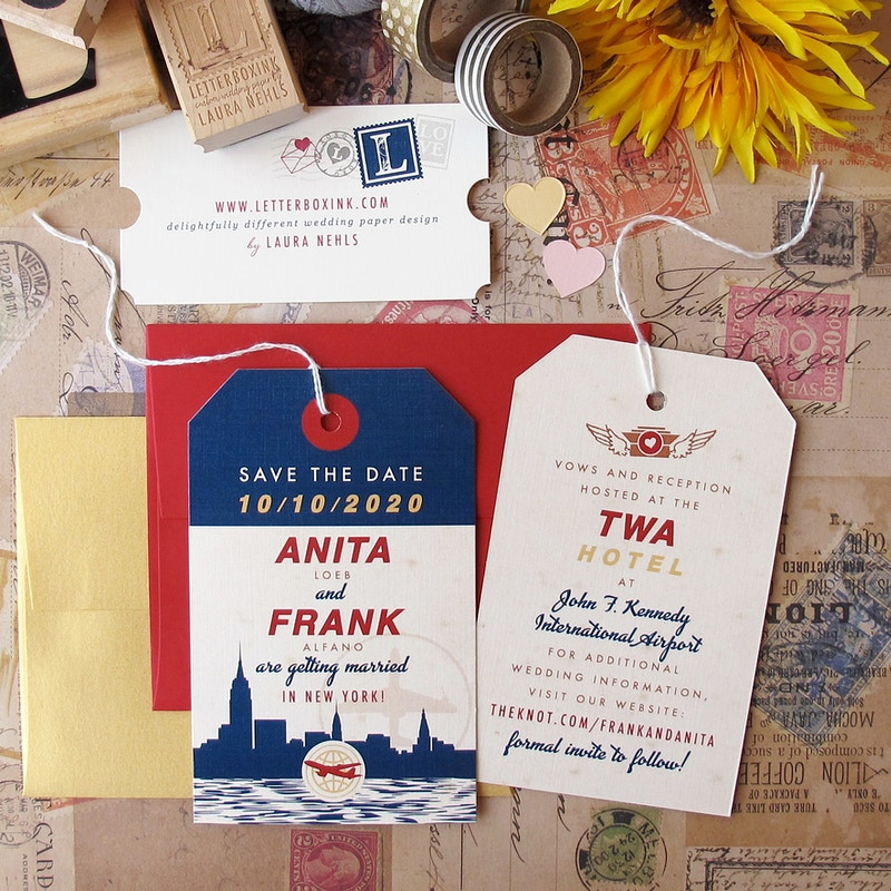 Luggage Tag Passport - LetterBoxInk by Laura Nehls