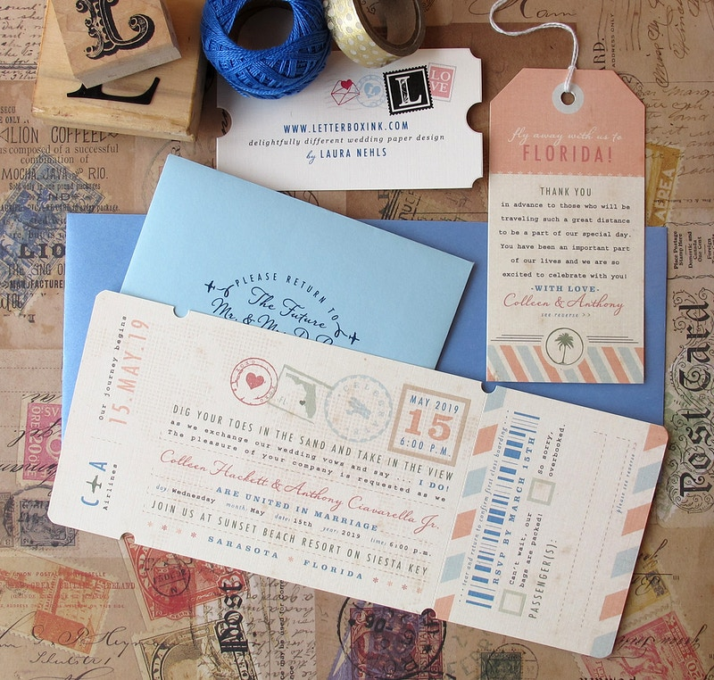 Boarding Pass - LetterBoxInk by Laura Nehls
