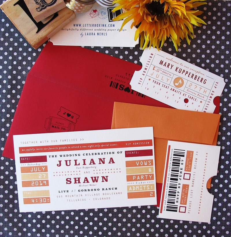 Concert Sports Ticket - LetterBoxInk by Laura Nehls