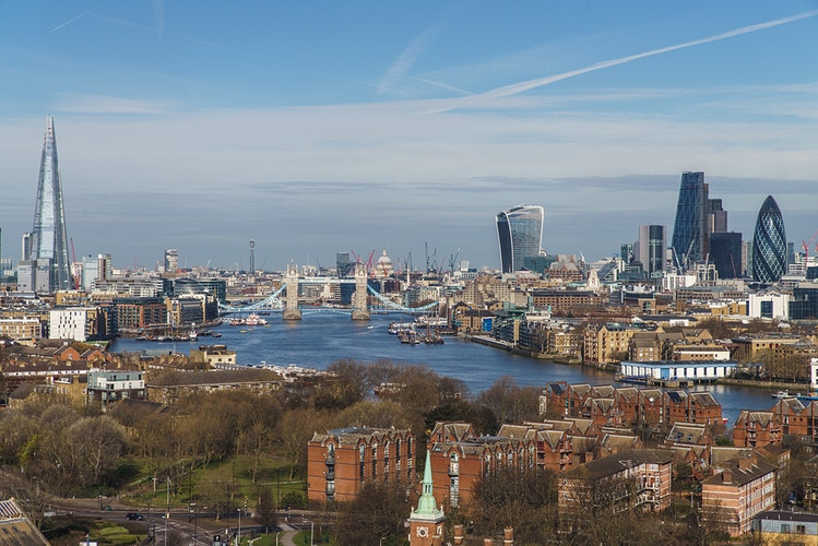 London skyline from Surrey Quays - London Viewpoints