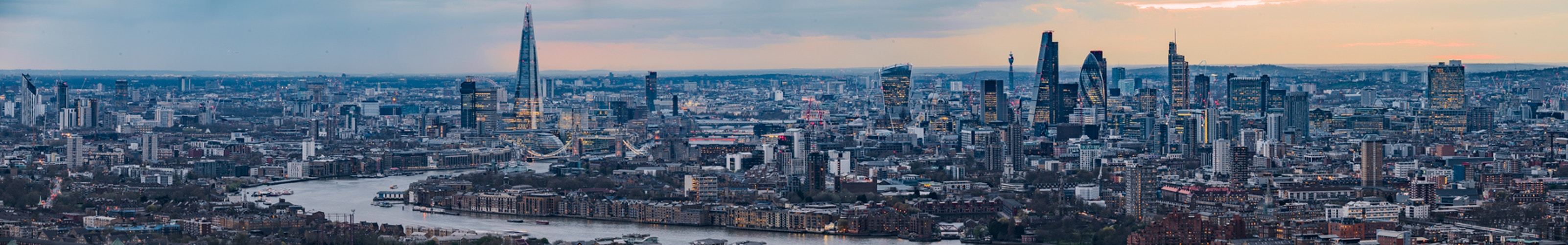 Panorama from Canary Wharf - London Viewpoints