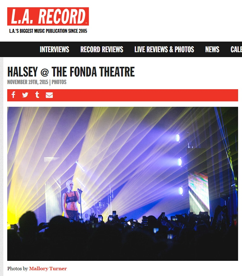 Published - Los Angeles music and portrait photography by Mallory Turner
