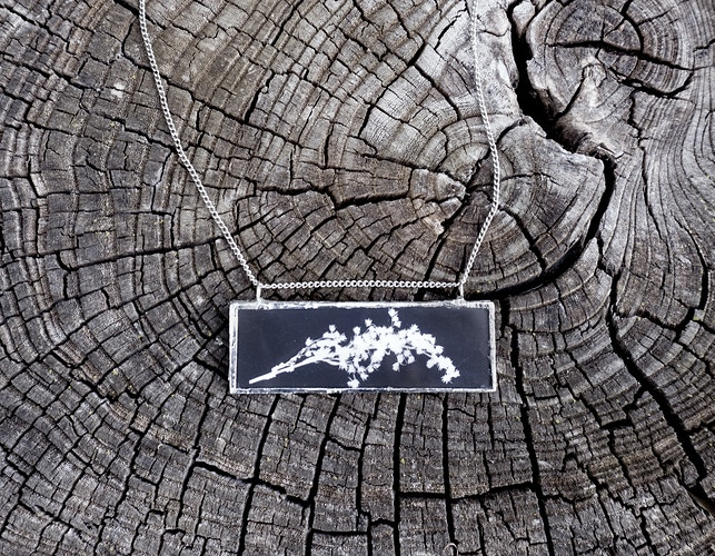 Handmade Photogram Necklace - Marie-Elena Schembri Photographer & Visual Artist