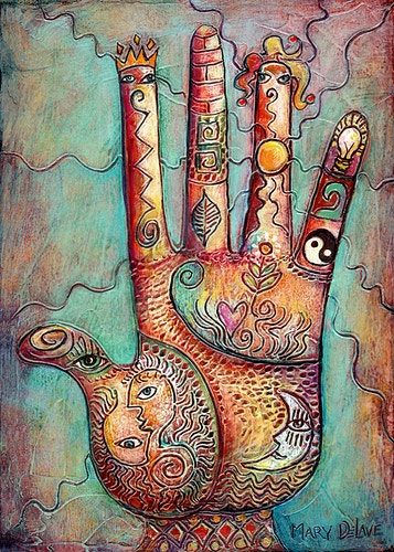 Radiant Hand - Mary DeLave Art