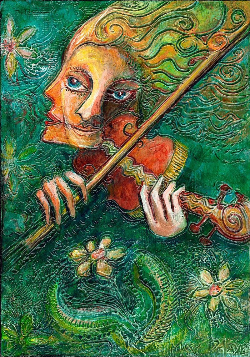 Fairy Music - Mary DeLave Art