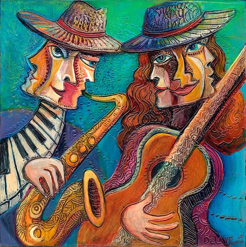 Tuning In - Mary DeLave Art