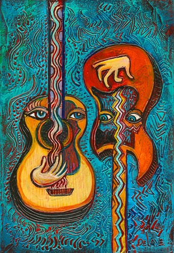 Guitar Love - Mary DeLave Art